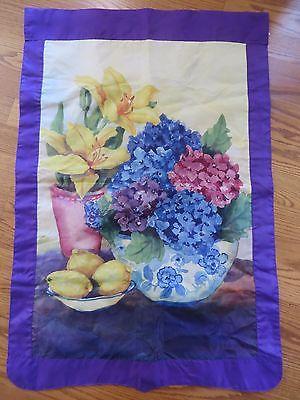 Evergreen Enterprises Floral Reversible Flag Brenda Bickerstaff-Stanley GUC