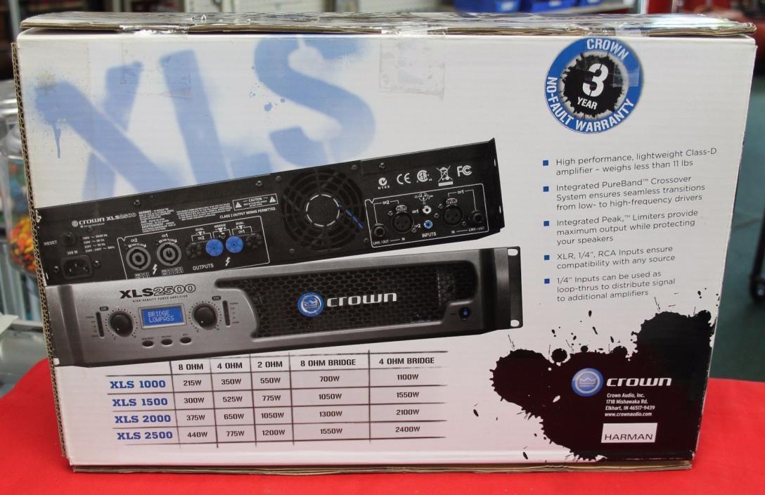 Crown XLS 2500 2-Channel Power Amplifier
