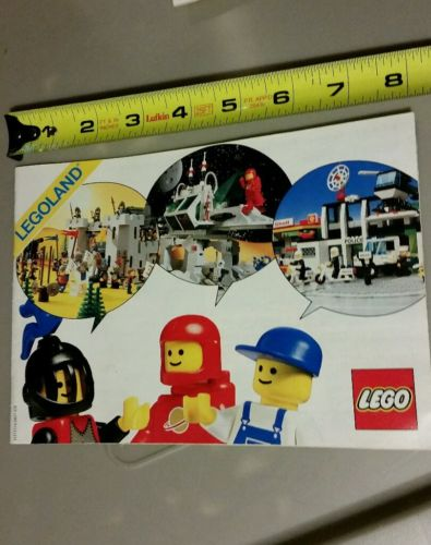 LEGO legoland 1985 Vintage Classic ad book booklet manual space knight police