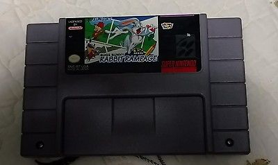 Bugs Bunny in Rabbit Rampage Nintendo SNES 1994 tested Works Great Free Ship