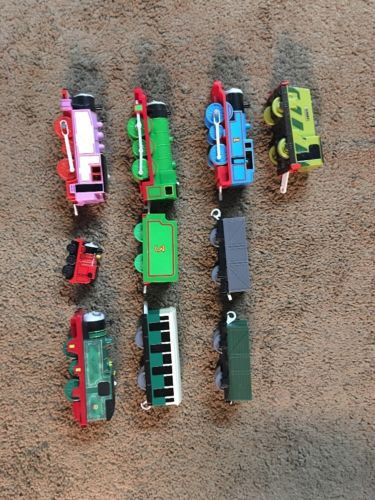 Lot of 9 Thomas the Train Plastic Cars Motorized Engines Scruff Whiff Rosie