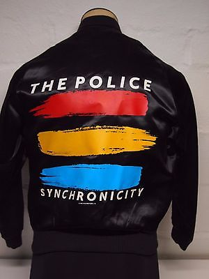 NOS Vintage 1983 The Police Synchronicity Roadie Small Satin Jacket