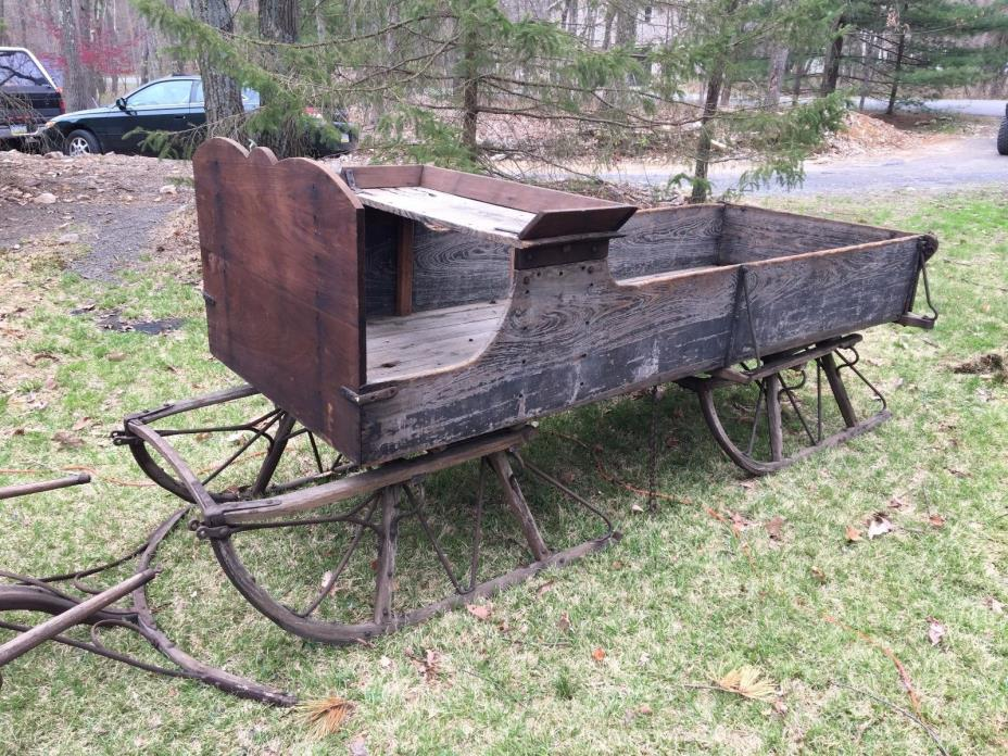 Antique Horse Drawn Sleigh Wagon