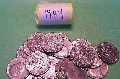 1984 Kennedy Half Dollar Roll (20 coins)