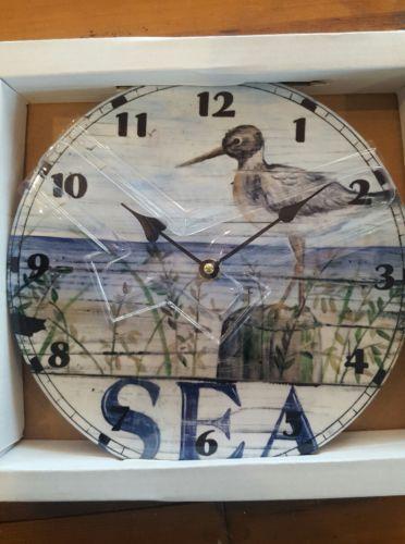 Ceramic Shore Bird Sea Clock