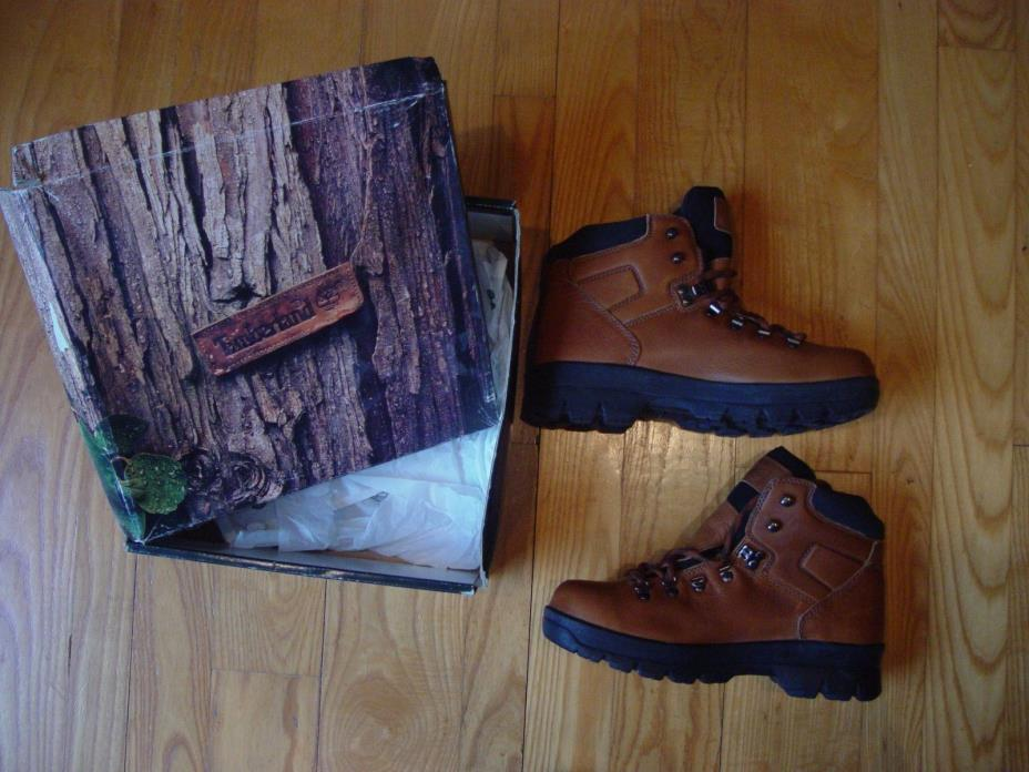 NOS Timberland GTX Hiker Boot Men Size 9.5 M Coffee Gortex Waterproof Leather