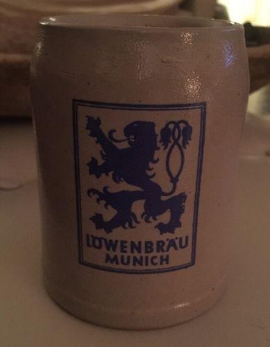 Vintage LOWENBRAU Munich Beer Mug Stein Germany .5L
