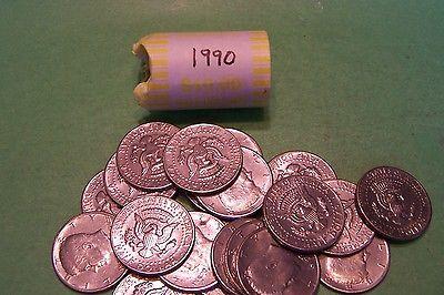 1990 Kennedy Half Dollar Roll (20 coins)