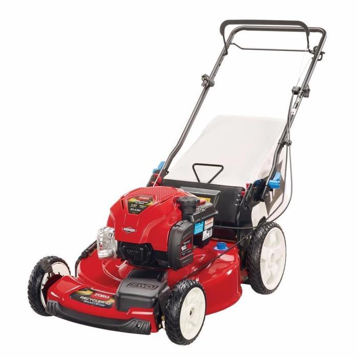 High Wheel Variable Speed Walk Behind Gas Self Propelled Mower Lawnmower 22 In