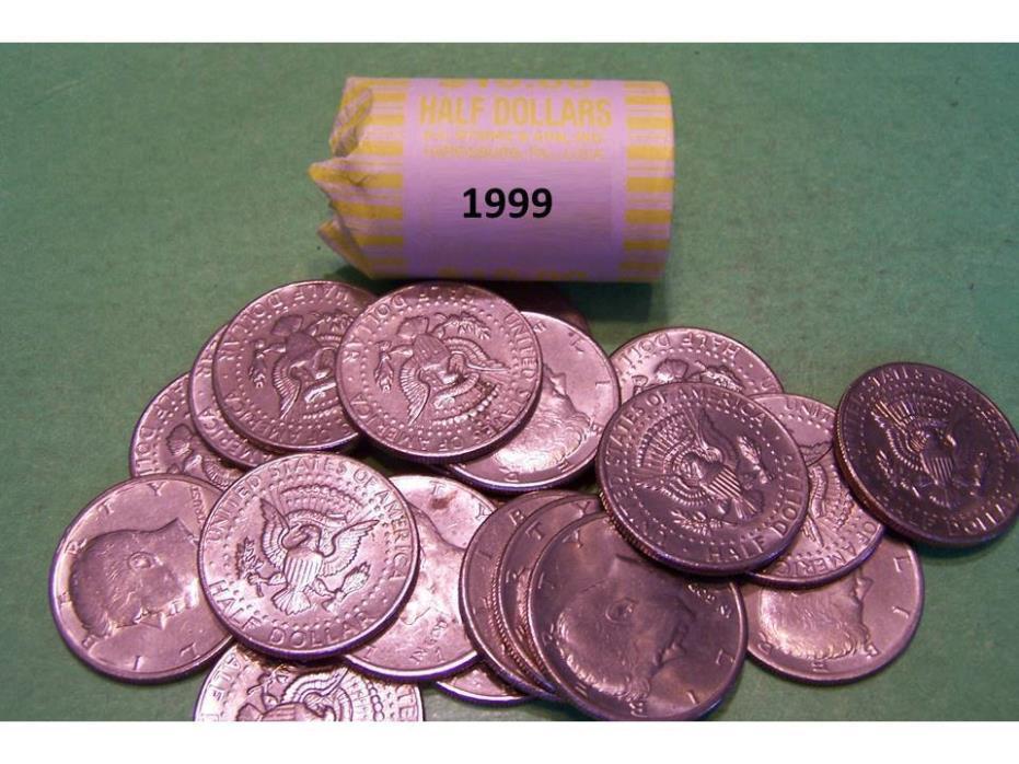 1999 Kennedy Half Dollar Roll (20 coins)