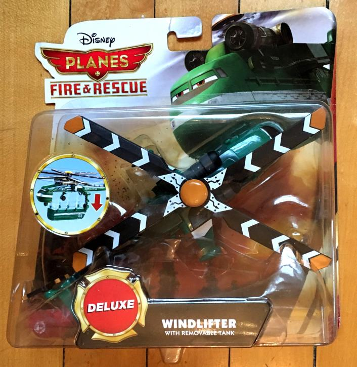 Disney PLANES Fire & Rescue Deluxe WINDLIFTER w/ Removable Tank NIP helicopter
