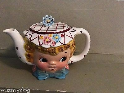 Vintage Miss Dainty Teapot by Lefton