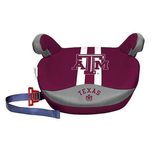 New Lil Fan No Back Booster Slimline College Machine Wash Car Seat Texas A&M