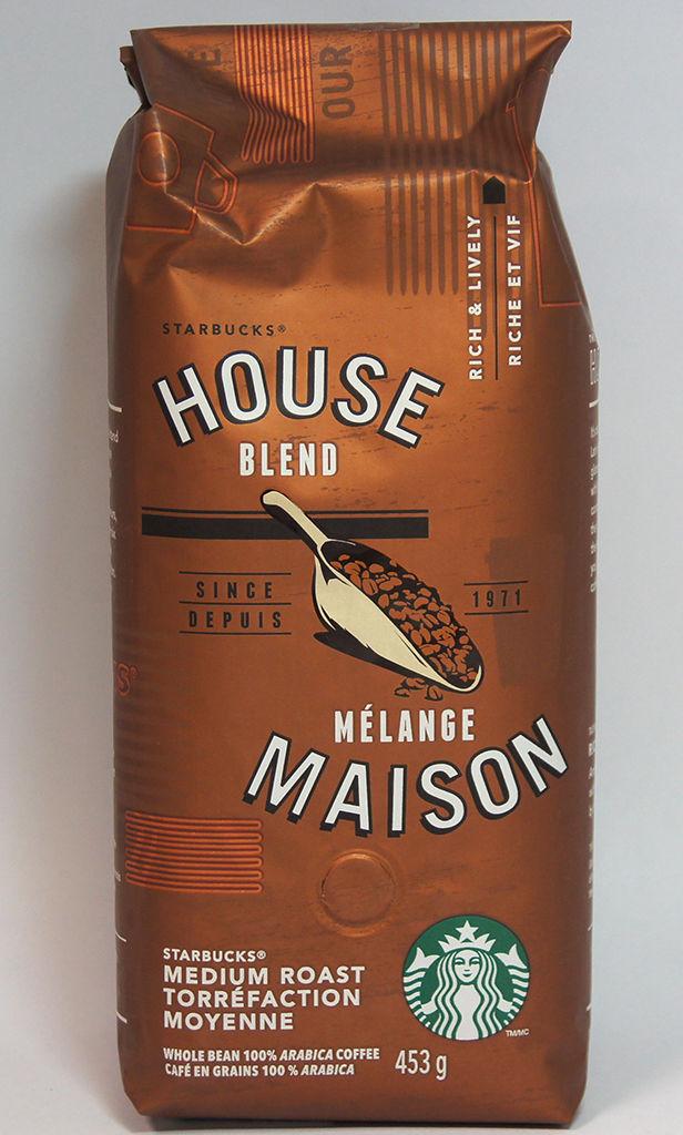 NEW Starbucks House Blend Medium Roast, whole bean 16OZ Best before 04/2017