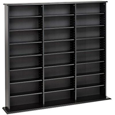 Black Triple Electronics Features Width Wall Storage