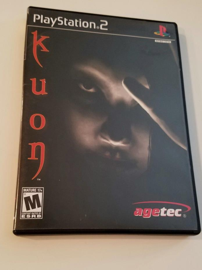 Kuon PS2 Playstation 2 Complete in case,w/book,US version RARE, Great Quality!