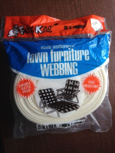 Vintage NOS Frost King Vintage WHITE Aluminum Chair Lawn Webbing  150 ft