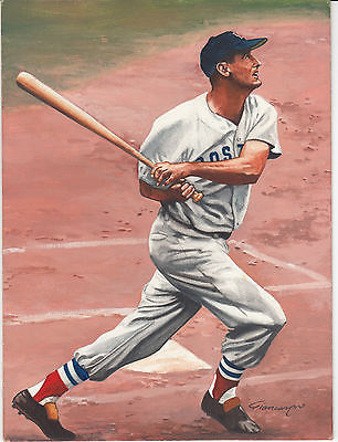Ted Williams Original Painting by John Giancaspro