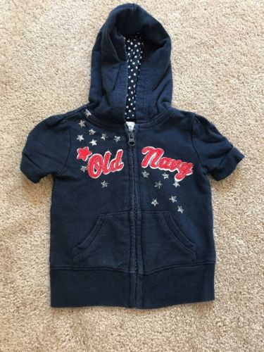 12-18 Mo Old Navy Hooded Zip Up Red White And Blue