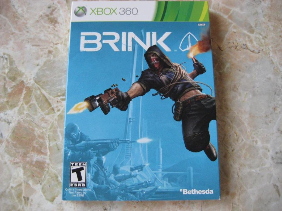 Brink Xbox360 Slipcover NO GAME Bethesda Special Limited Edition Cardboard Cover