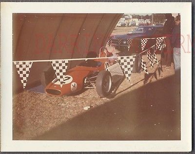 Vintage Polaroid Color Photo Racing Car 763845