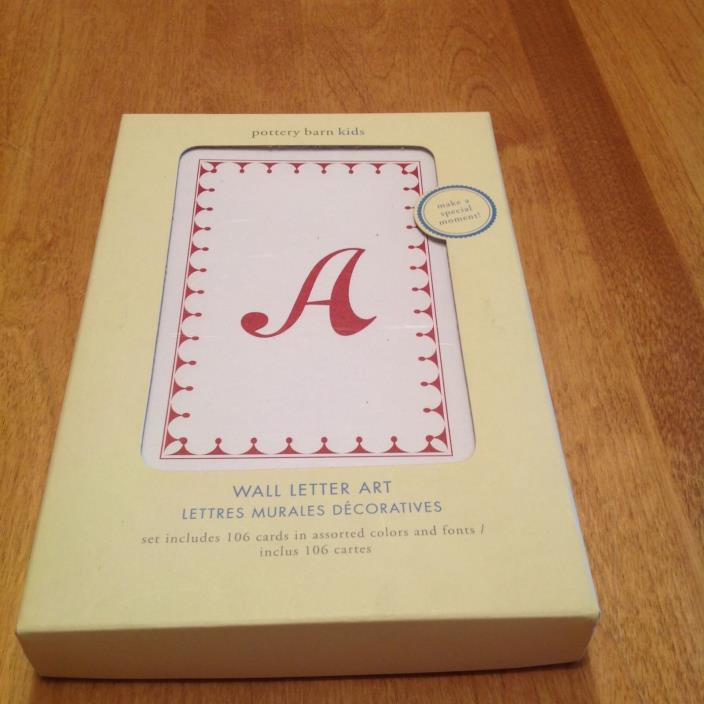 Pottery Barn Kids A To Z For Sale Classifieds
