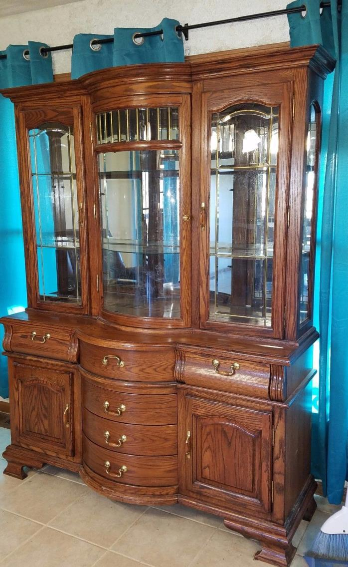 Solid wood china hutch for sale classifieds