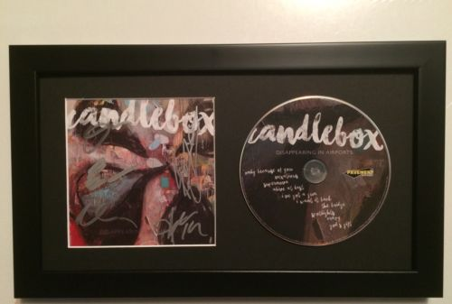 ** AUTOGRPAHED ** FRAMED * Candlebox - Disappearing In Airports