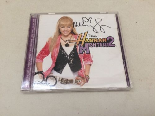 Miley Cyrus Hand Signed Cd Album Disney Hannah Montana