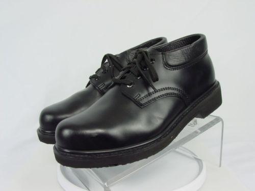 NEW SEARS DIEHARD Men 9-EE Black Leather Steel Toe Work Oxford Shoes Boots