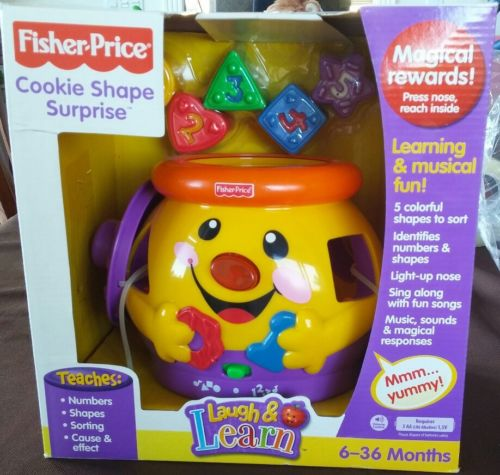 Fisher Price Laugh & Learn Cookie Shape Surprise Shape Sorter Pre School Toy New
