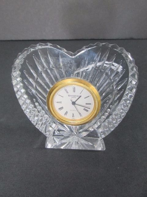 Waterford Crystal Clock Heart Shaped