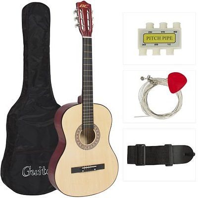 New Beginners Acoustic Guitar With Guitar Case, Strap, Tu W