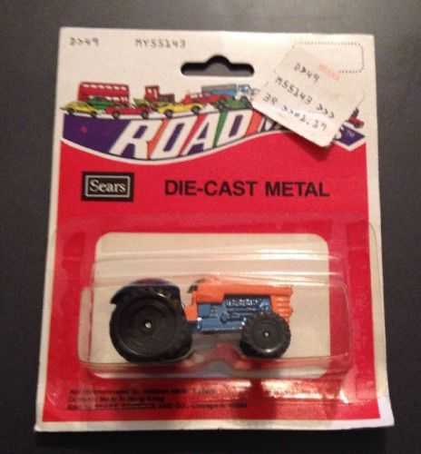 NIP Vintage Road Mates Sears Die Cast Metal Orange Blue Tractor MY55143