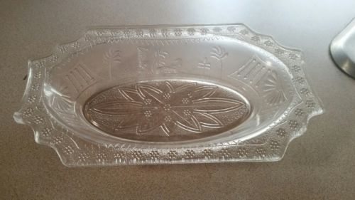 EAPG Egyptian Parthenon Boston & Sandwich Glass 1870's Relish Dish