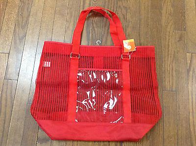 Summer Trend Run Wowzer Red Tote Reuseable Beach Bag NWT