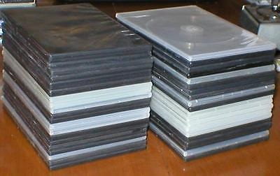 Wholesale Lot of 40 Empty, Clean, Slim (7mm) DVD Cases with Sleeves for Artwork