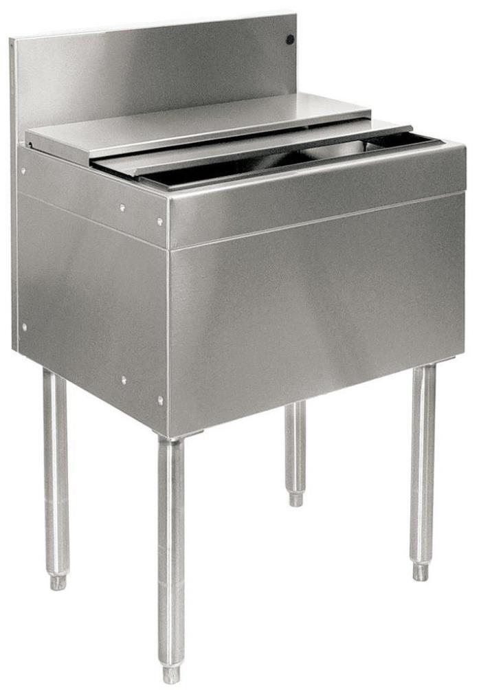 Glastender Stainless Steel Commercial Back Bar Ice Bin 18