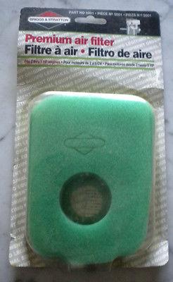 Briggs & Stratton air filter part # 5001
