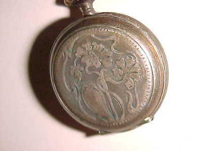800 SILVER - 1900 pin set ART NOUVEAU Ladies Pocket Watch
