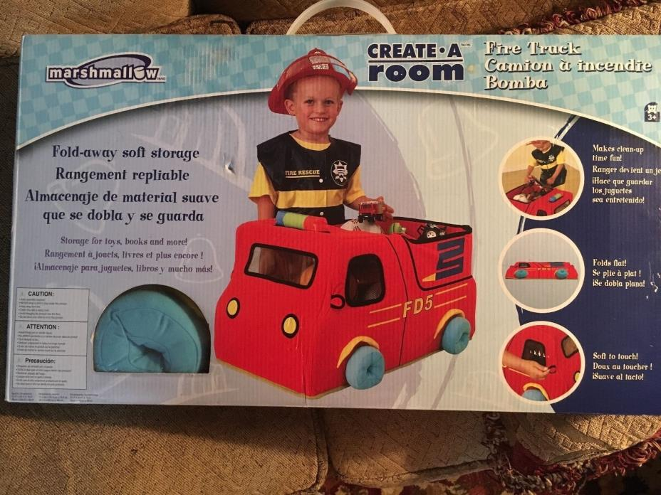 MARSHMALLOW CREATE A ROOM TRUCK SOFT TOY STORAGE