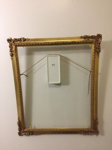 Antique Late 19th Century Ornate Gold Gilt Wood Frame