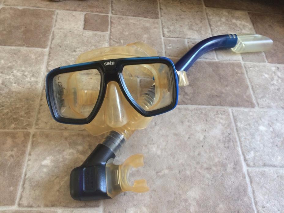 Mares Seta diving mask w/ snorkel