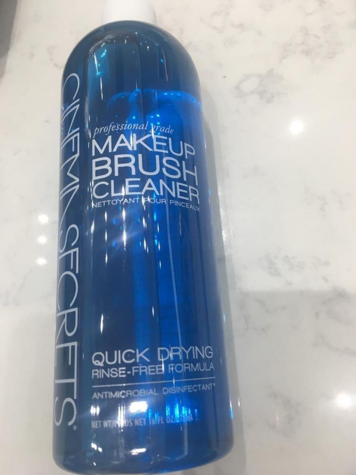 Cinema Secrets MakeUp Brush Cleanser Quick Dry Rinse Free Formula 16oz