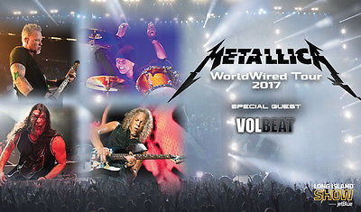Metallica -Tour 2017 Lincoln Financial Field 5/12 GA FLOOR Tickets