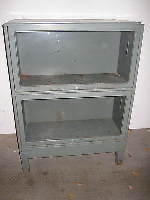 JEBCO Vintage Barrister Lawyers Bookcase Cabinet Industrial Metal