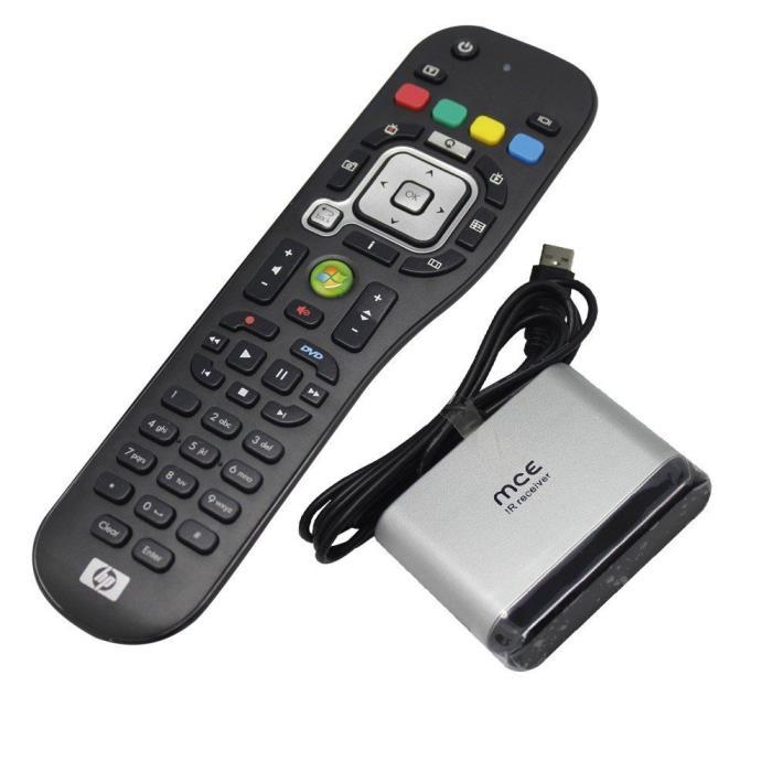 HP Windows Media Center MCE Remote Control + USB IR Receiver For Windows 7 Vista