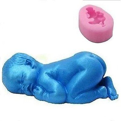 3D Cute Sleeping Baby Cake Mold Silicone Cake Decor Mold Fondant DIY Baking Tool