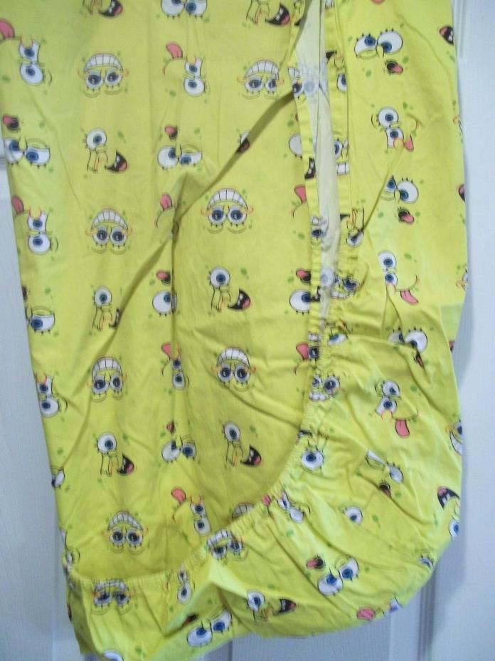 Spongebob Squarepants 2005 Viacom  Fitted Crib  Sheet fabric