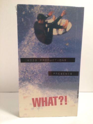Vintage Surf VHS Video What?! Kozo Tom Curren Machado Slater 90s New Sealed